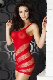 Dear-lover 21261 Extrem sexy durchsichtiges Minikleid mit Streifen Ausschnitten