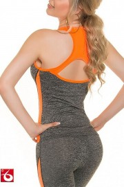 Skinsix SW 387.1 Fitness Tanktop orange