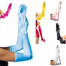 Leg Avenue 16B Extra lange Satin Handschuhe