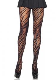 Leg Avenue 9939 Zebra Net Pantyhose black