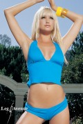 Leg Avenue 81062 Lycra Halter Top With Boyshorts turquoise Size S/M