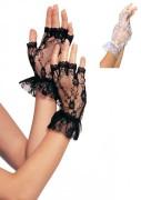 Leg Avenue G1205 Fingerlose Spitzen-Handschuhe mit Rüsche
