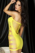 Dear-lover 21262 Hollow-out Flirty Tube Chemise yellow or pink