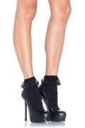 Leg Avenue 3013 Lace Ruffle Nylon Anklet black or white