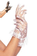 Leg Avenue G1260 Wrist Length Lace Gloves with Ruffle