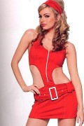 Leg Avenue 83144 2 PC. Red Soda Pop Girl Costume Size L