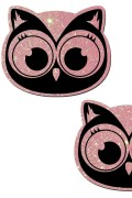 Pastease® Original Brand Pasties Owl Baby Pink Glitter with Cute Black from USA