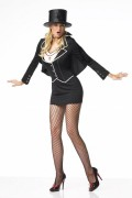 Leg Avenue 83082 Vampire Costume Printed Dress With Attached Cape