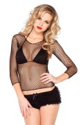 Leg Avenue 8278 Spandex Long Sleeved Industrial Net Shirt