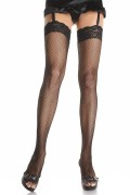 Leg Avenue 9023 Fishnet thigh highs with lace top