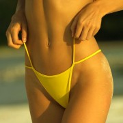 bikinini DG600T-M Double Trouble G-String Bikini Tie Top M