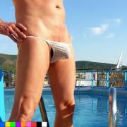 bikinini H100 Mens Swimwear Very Hot Mesh Tanga