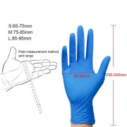 Disposable gloves nitrile Size M blue for Household Medicine Food Garden